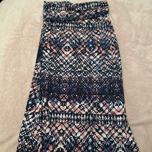 Pink and blue Maxi-Skirt